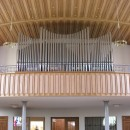 Vue du Grand Orgue Willisau/Goll de l'église catholique de Biberist (1932/2007). Cliché personnel (oct. 2008)