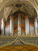 Grand Orgue Aloys Mooser de la Cathédrale de Fribourg. Cliché personnel agrandissable (janvier 2006)