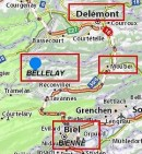 Situation de Bellelay. Source: https://fr.viamichelin.ch/web/Cartes-plans/Carte_plan-Bellelay