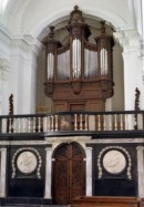 Orgue Clerinx de la Collégiale d'Amay, restauré par le facteur Thomas. Crédit: www.orgues-thomas.com/